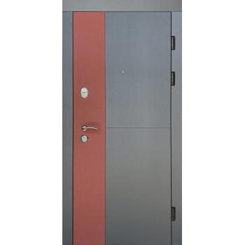 Двери входные REDFORT Комфорт РУБИН (три контура), асфальт + клубничный джем/ антрацит