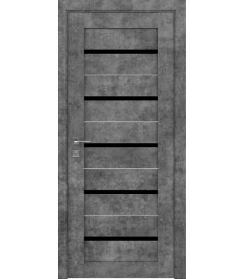 Двери Rodos Modern Lazio мрамор черное стекло