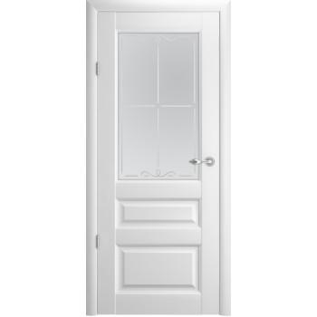 Межкомнатные двери Albero Эрмитаж-2 стекло галерея Vinil белый