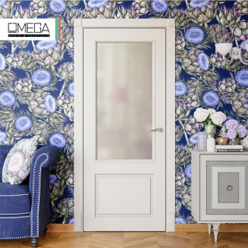 Двери межкомнатные Омега Amore Classic Милан ПО ral 9010
