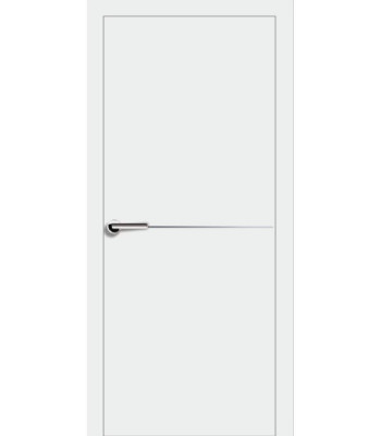 Двери Эмаль 7.20 Брама белая эмаль глухое молдинг хром