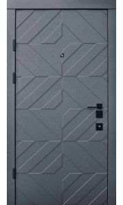 Двери Qdoors АВАНГАРД Тиффани грифель структура / белая эмаль