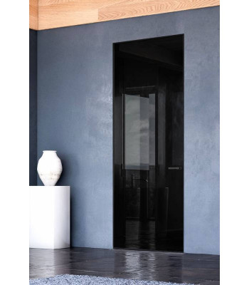 Дверь скрытая Invisible Color Glass black