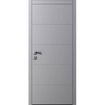 Дверь Авангард AL2 RAL 7004 серый шелк