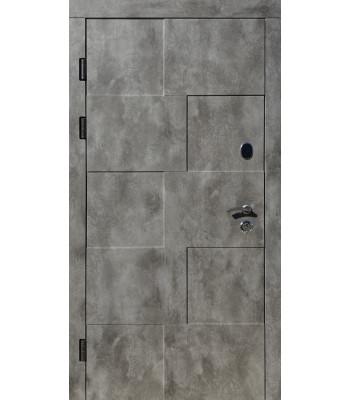 Двери входные REDFORT Комфорт Крафт сланец/белый мат (три контура), УЛИЦА