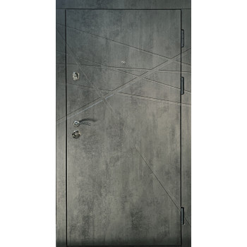 ДВЕРИ ВХОДНЫЕ REDFORT ПРЕМИУМ Аксиома (КВАРТИРА) бетон темный/ сатин белый
