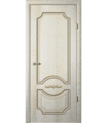 Межкомнатные двери Леонардо ясень Голд патина глухое