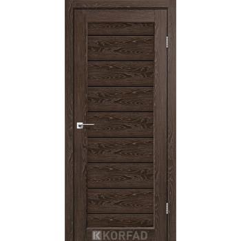 Межкомнатные двери KORFAD PIANO DELUXE PND-01 дуб марсала черное стекло