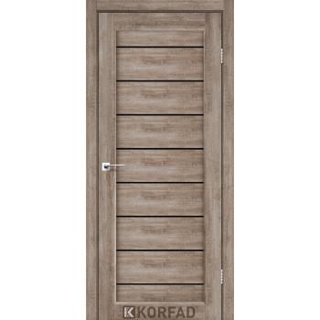 Межкомнатные двери KORFAD PIANO DELUXE PND-01 еш-вайт черное стекло
