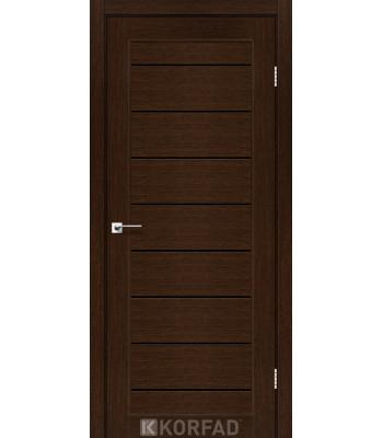 Межкомнатные двери KORFAD PIANO DELUXE PND-01 венге черное стекло