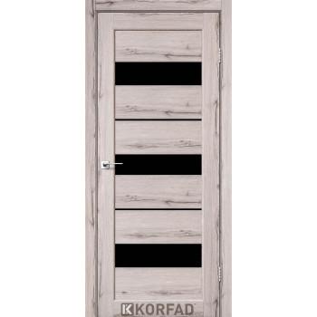 Межкомнатные двери KORFAD Porto PR-12 дуб нордик черное стекло