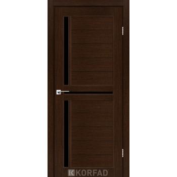 Межкомнатные двери KORFAD SCALEA SC-04 венге черное стекло
