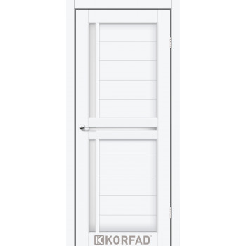 Межкомнатные двери KORFAD SCALEA SC-04 белый перламутр стекло сатин