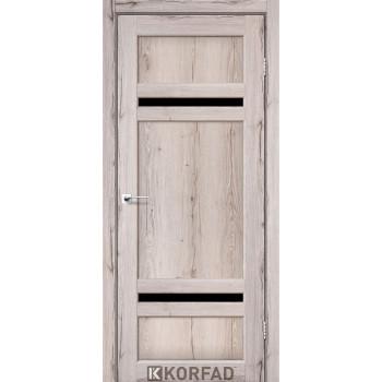 Межкомнатные двери KORFAD TIVOLI TV-03 дуб нордик черное стекло