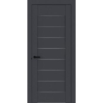 Межкомнатная дверь Терминус Элит плюс модель 112 антрацит темное стекло