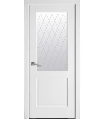 Двери Новый Стиль Эпика белый матовый со стеклом