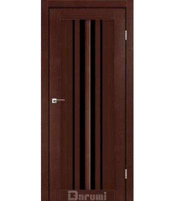 Двери Darumi PRIME венге панга черное стекло