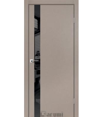 Двери Darumi PLATO LINE PTL-04 Декор из стекла Lacobel серый краст