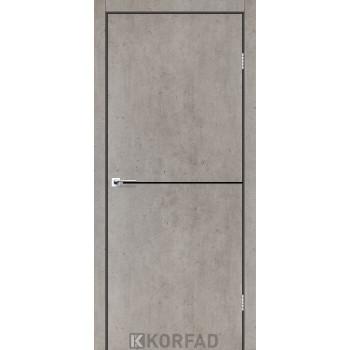 Межкомнатные двери KORFAD DLP-01 ЛАЙТ БЕТОН + декор