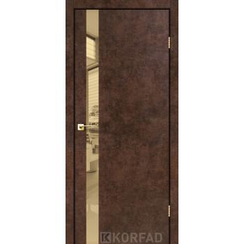 Межкомнатные двери KORFAD GLP-02 БЕТОНЫ Накладные стекло, зеркало или декор из CPL