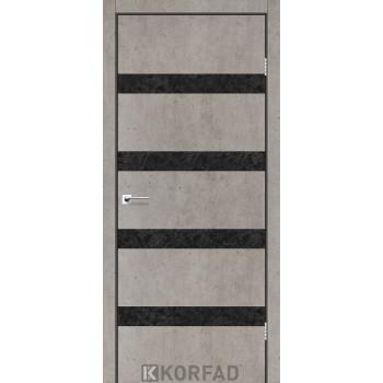 Межкомнатные двери KORFAD GLP-04 БЕТОНЫ Накладные стекло, зеркало или декор из CPL