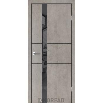 Межкомнатные двери KORFAD GLP-06 БЕТОНЫ Накладные стекло, зеркало или декор из CPL