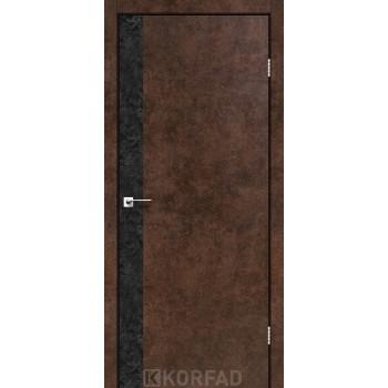 Межкомнатные двери KORFAD GLP-10 БЕТОНЫ Накладные стекло, зеркало или декор из CPL