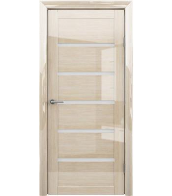 Межкомнатные двери Albero Flora Глянец МОККО стекло белое