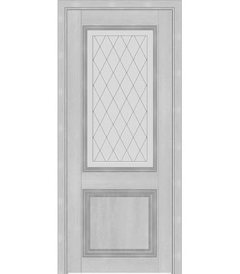 Межкомнатная дверь Терминус Nanoflex модель 403 пломбир стекло
