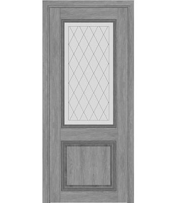 Межкомнатная дверь Терминус Nanoflex модель 403 эскимо стекло