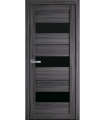 Двери Новый Стиль ПВХ Ultra Лилу дуб атлант черное стекло