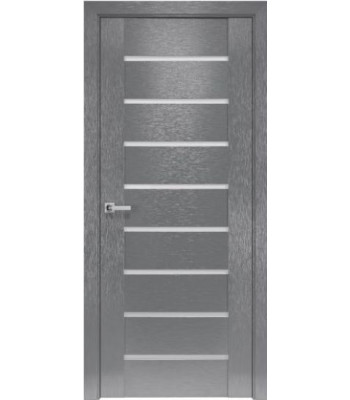 Двери Новый Стиль коллекция Orni-X Парма Х-серый черное стекло