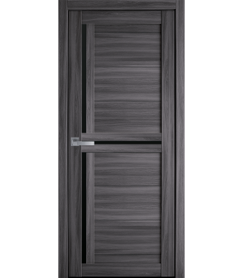 Двери Новый Стиль экошпон Тринити дуб Атлант черное стекло
