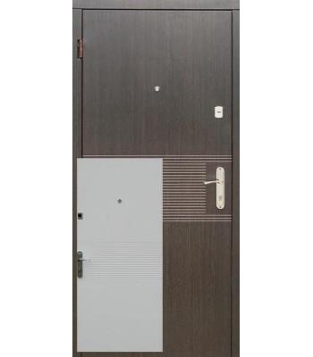 Двери входные REDFORT эконом Лайн венге / ясень белый (квартира)