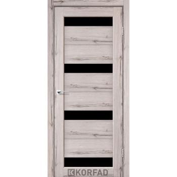 Межкомнатные двери KORFAD Porto PR-06 дуб нордик черное стекло
