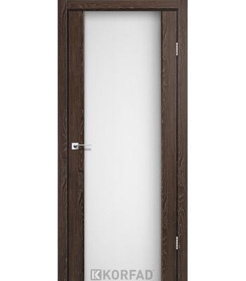 Межкомнатные двери KORFAD SANREMO SR-01 дуб марсала белое стекло