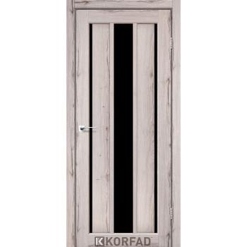 Межкомнатные двери KORFAD VENECIA DELUXE VND 04 дуб нордик черное стекло