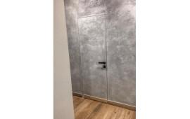 Двери под финишную отделку с алюминиевым торцом