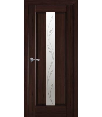 Двери Новый Стиль Премьера со стеклом Р2 каштан