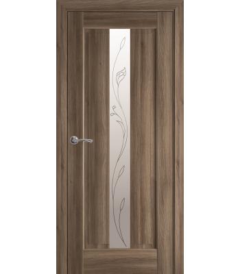 Двери Новый Стиль Премьера со стеклом Р2 золотой дуб