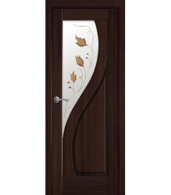 Двери Новый Стиль Прима со стеклом Р1 каштан