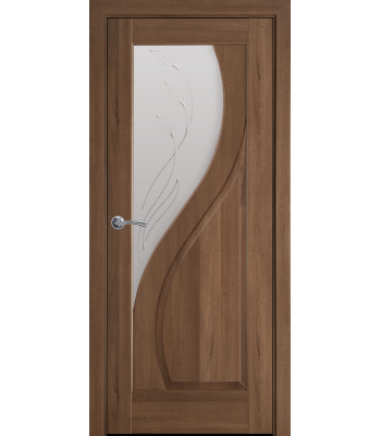 Двери Новый Стиль Прима со стеклом Р2 золотая ольха