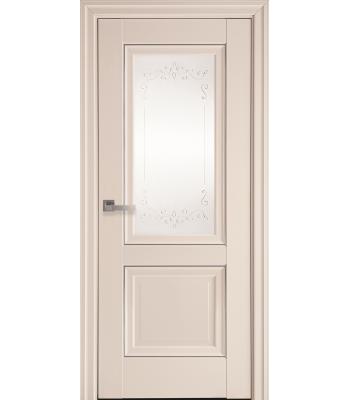 Двери Новый Стиль ИМИДЖ с рисунком и молдингом магнолия