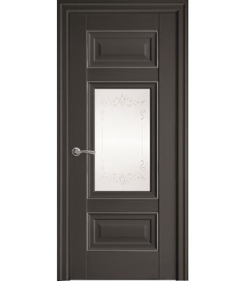 Двери Новый Стиль ШАРМ с рисунком Р2 антрацит