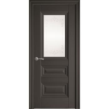 Двери Новый Стиль СТАТУС с рисунком Р2 антрацит