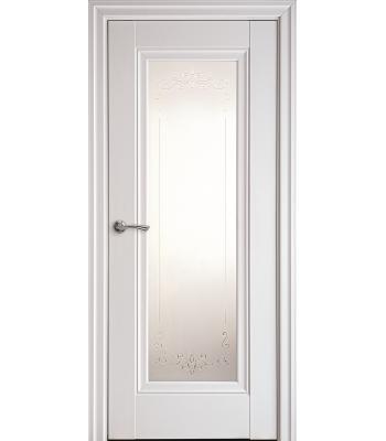 Двери Новый Стиль ПРЕСТИЖ рисунок М2 молдинг белый матовый