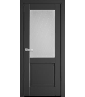 Двери Новый Стиль Эпика антрацит со стеклом