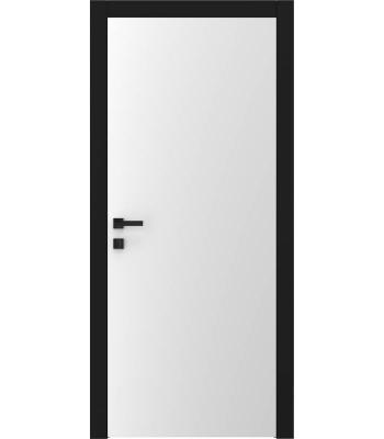 Двери межкомнатные Омега ART Vision А1+наличник черного цвета