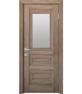 Двери Новый Стиль ПРОВАНС Камилла со стеклом орех европейский