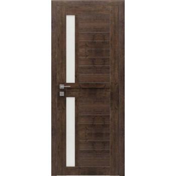 Двери Rodos MODERN ALFA полустекло дуб браш